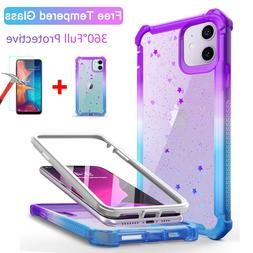 For iPhone 11 Pro MAX XR X 7 8 Plus Case Glitter Shockproof