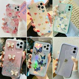 For iPhone 12 11 Pro MAX XR 7 8 Plus Case Glitter Shockproof