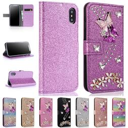 For iPhone 11 Pro Max XR XS 6S 7 8 Plus Butterfly Wallet Cas