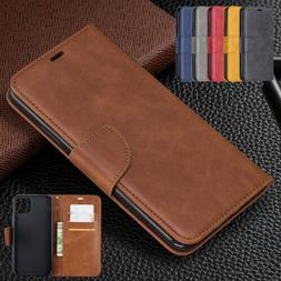 For iPhone 11 Pro Max XS XR 8 7 6 Case PU Leather Card Holde