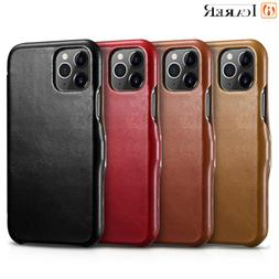 For iPhone 11 Pro Xs Max ICARER 100% Genuine Real Leather Wa