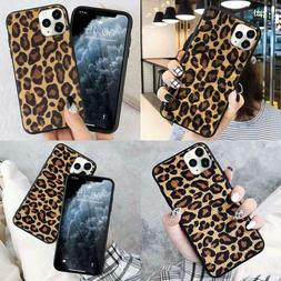 for iPhone 11 Protective Case Super Cute Furry Leopard Print