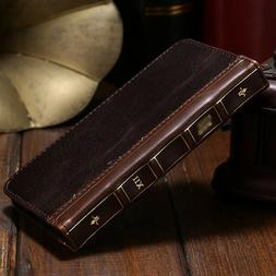 iPhone 12 mini / 12 Pro Max Antique Leather Card Wallet Retr