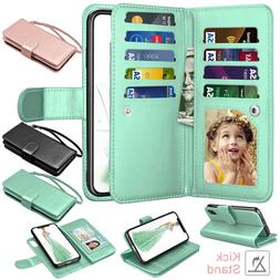 For iPhone 11 Pro Max/XR Leather Wallet Case Magnetic Flip C