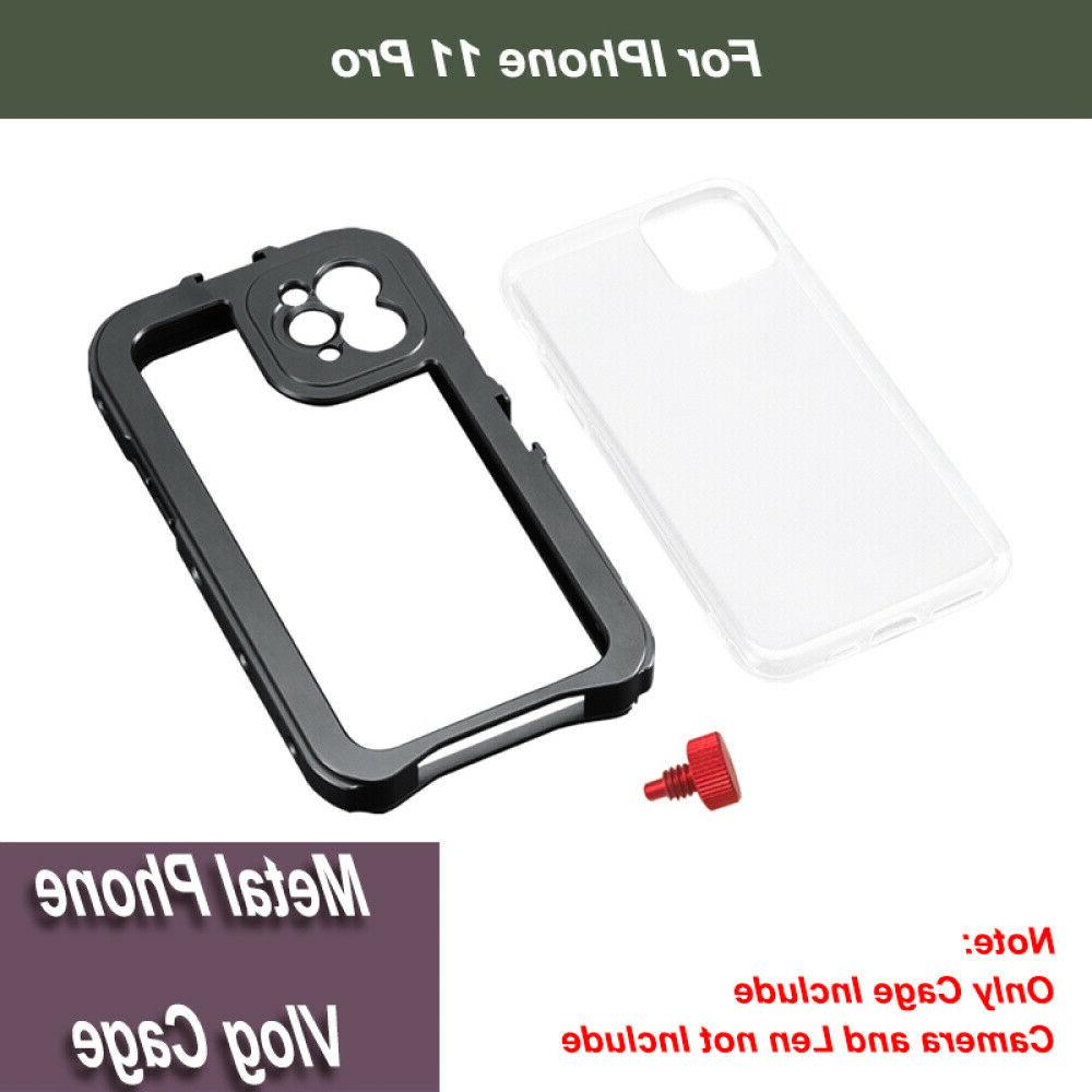 1 X Phone Video Camera Lens Cage Phone Case Rig With Clod Sh