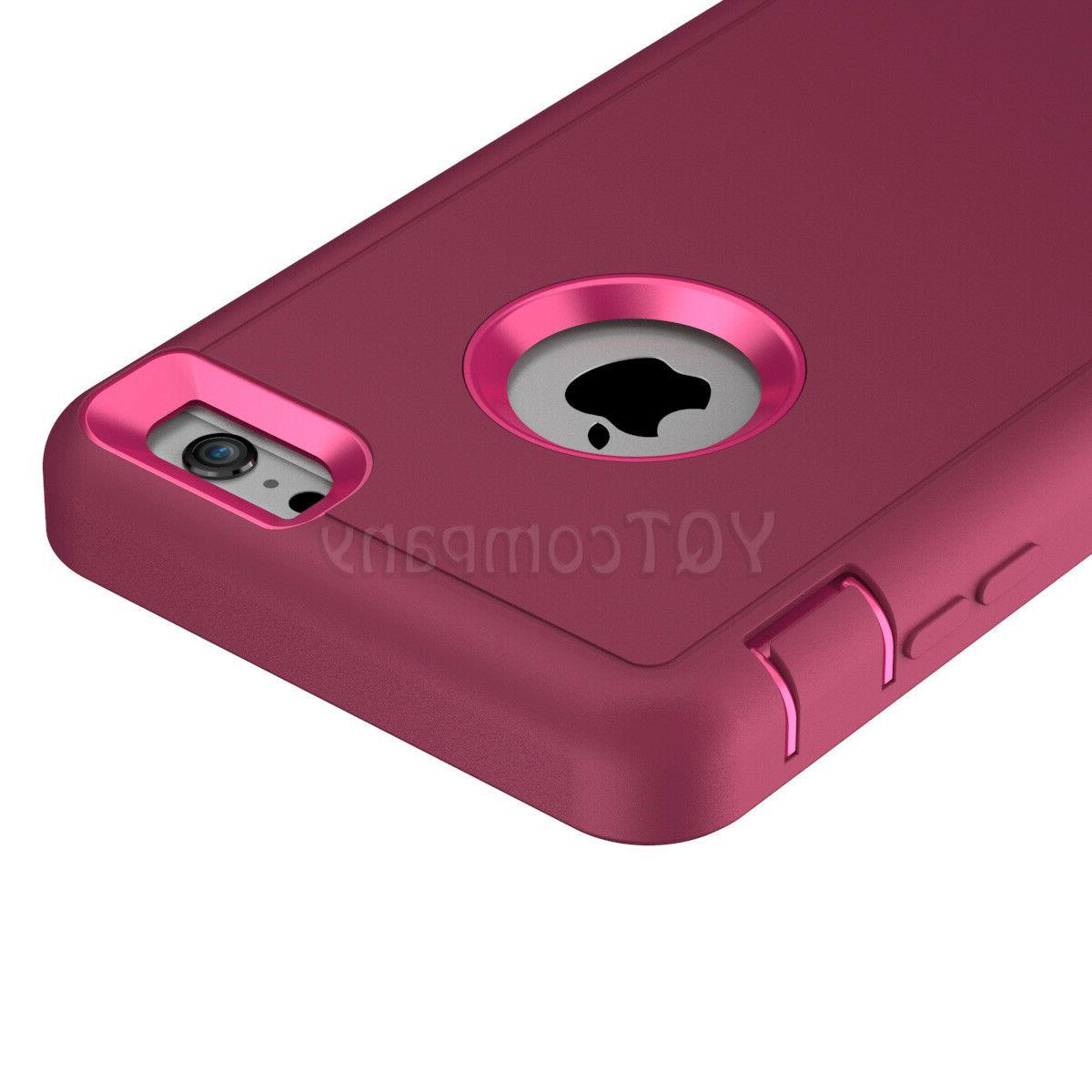 For 11 6 8 Plus XS Max XR Case Duty Rubber Cover