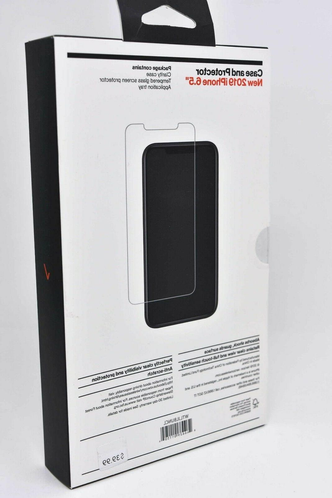 """Verizon Case w/ Screen Protector for iPhone 6.5"""" Clear"""