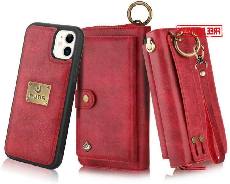 Petocase Compatible Iphone 11 Wallet Case, Multi-Function Zi