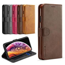 Leather Magnetic Flip Phone Case Cover Card Holder Wallet Fo