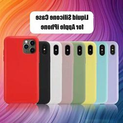 Liquid Silicone Gel Rubber Shockproof Case For iPhone 11 Pro