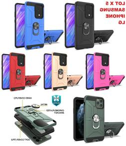 lot 5 IPHONE 11 Samsung A21 S20 Ultra NOTE Plus Case armor R