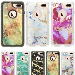Marble Defender Case For iPhone 6/7/8 Plus XR 11 Pro Max Wor