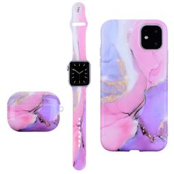 Marble Silicone Sport Band Soft TPU Case For Apple Watch Air