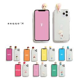 Official BTS Figure Clear Soft Jelly Phone Case Cover 1st Ve