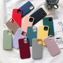 Liquid Silicone Case Soft Gel Rubber Slim CoverFor iPhone 11