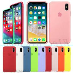 Original Silicone Luxury Case for Apple iPhone XS Max XR X 7