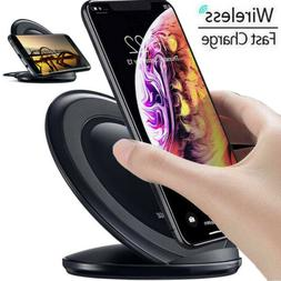 Qi Fast Wireless Charger Charging Pad Stand for Samsung Gala
