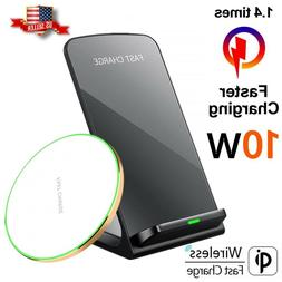 Qi Wireless Fast Charger For Apple iPhone 11  X XR XS  Samsu