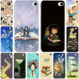 Reading books silicone case for iphone 11 Pro Max XS XR X 8