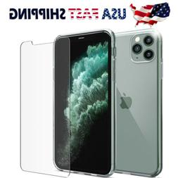 Shockproof Silicone Case Cover Tempered Glass Screen Protect
