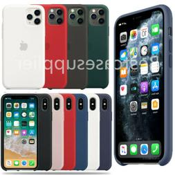 Silicone Cover for Apple iPhone 11 Pro XS X 7 8 Plus 6S 5S S