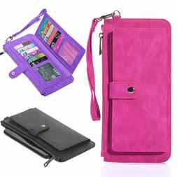 Smartphone Cell Phone Carrying Pouch RFID Wallets Case cover