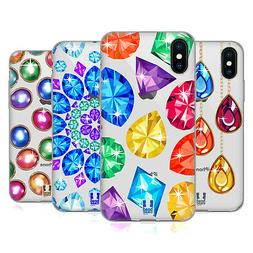 HEAD CASE DESIGNS SPARKLING GEMSTONES GEL CASE FOR APPLE iPH