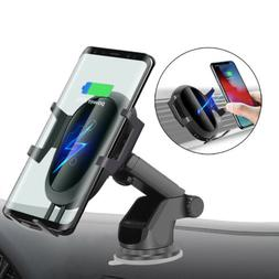 US Fast Qi Wireless Car Charger Bracket Holder For iPhone 11